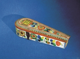 Fiddle case for the Tveita fiddle, probably painted by Annanias Tveit from Os.