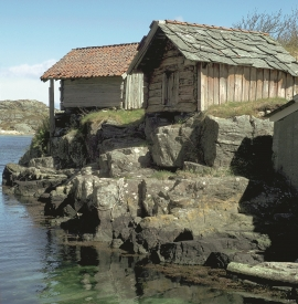 Old boathouses at Golta., Sund