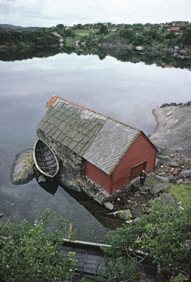 Boathouse in Nordvika.