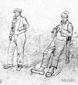 Folkedraktskisser frå Sotra i Losting sin strek
