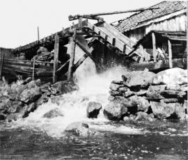 Sag på Mollandseid kring 1950