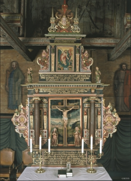 The triptych in Hamre church