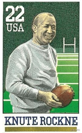 Ein annan utvandrar frå Voss, den legendariske fotballtrenaren Knute Rockne (1888-1932)