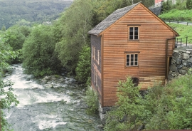 The old village mill in Ulvik