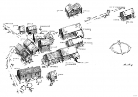 Reconstruction of the farmyard at Øvre Nes