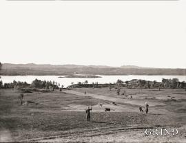 Frå Lygra mot vest, om lag 1910