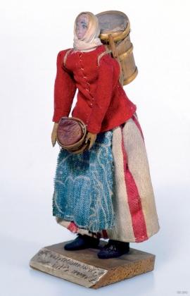 """En Strudshamns Mælke Pige"" (a milkmaid from Strudshamn), J.Chr. Garnaas."