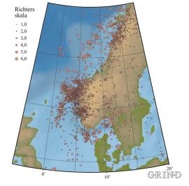 Jordskjelv registrert i det sørlege Skandinavia.