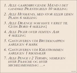 Lindås prestegjeld var mellom dei første som fekk utarbeidd ein skulefundas, i 1748. Dette dokumentet gjeld lærarløn.