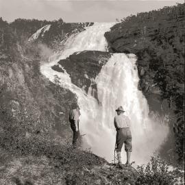 Nyastølfossen waterfall, one of the mighty falls in Husedalen.
