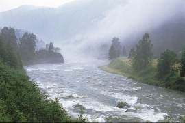 More water flows in the Voss water system than in any other water system in western Norway.