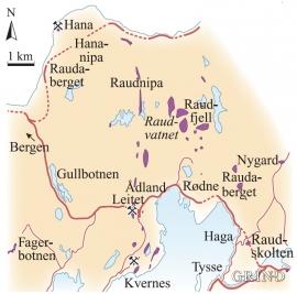 Oversyn over klebersteinsfelt