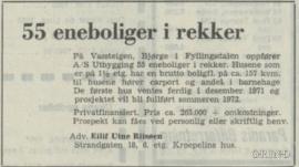 Salgsannonse i BT 23.juli 1971