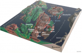 The geology and mines in the area around Ølve.