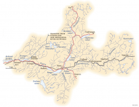 Map of the Voss water system.