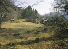 The farmyard at Staup. Image from around 1990