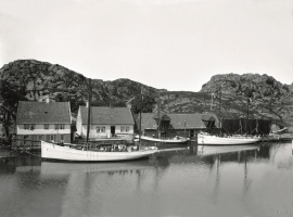 "Espevær around 1915, at ""Biekronå""."