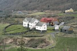 The main house at Nedrevåge, Tysnes