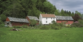 The farm at Færavåg, Tysnes