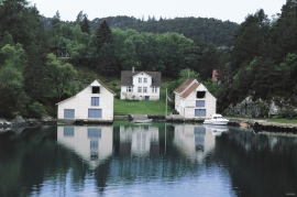 The large boathouses at Klinkholmen, Tysnes