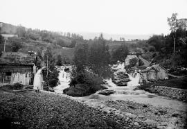 The mills at Rekve around 1890.