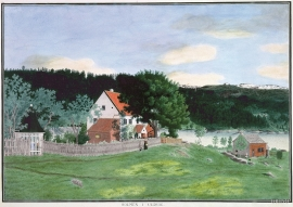 The state residence at Holmen painted by Catharine Kølle, undated.