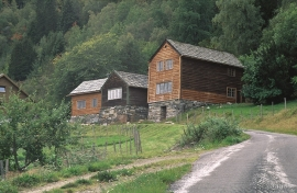 The oldest farmyard at Fryste or Frøystein.