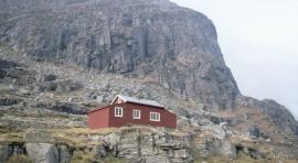 Dyrskard with the restored construction hut.