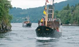 The D/S Oster and D/S Børøysund