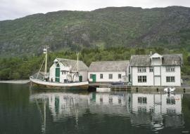 The trade center at Årbakka, Tysnes