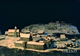 Model of the king's estate around 1300