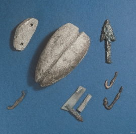 Archaeological fins from the sites at Risøya.
