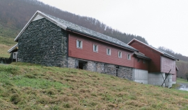 Barn with stone end wall