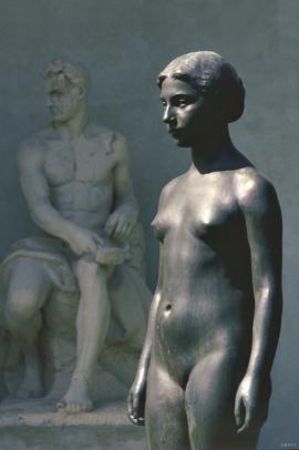 """Standing girl"", 1908, bronze."