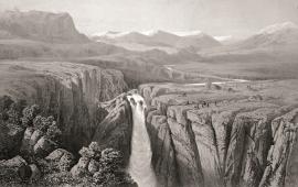 «The Vøring-fos Waterfall», James Randell, 1854