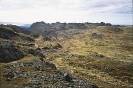 Stordfjella mountain towards the south.
