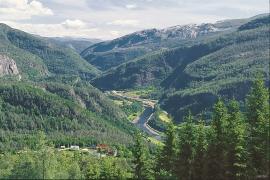 Vosso between Evangervatnet and Bolstadfjorden.