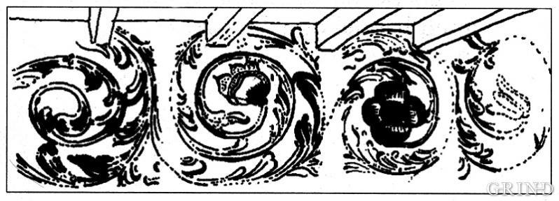 Blomebarokkens former er førebiletet for rosemålarane.