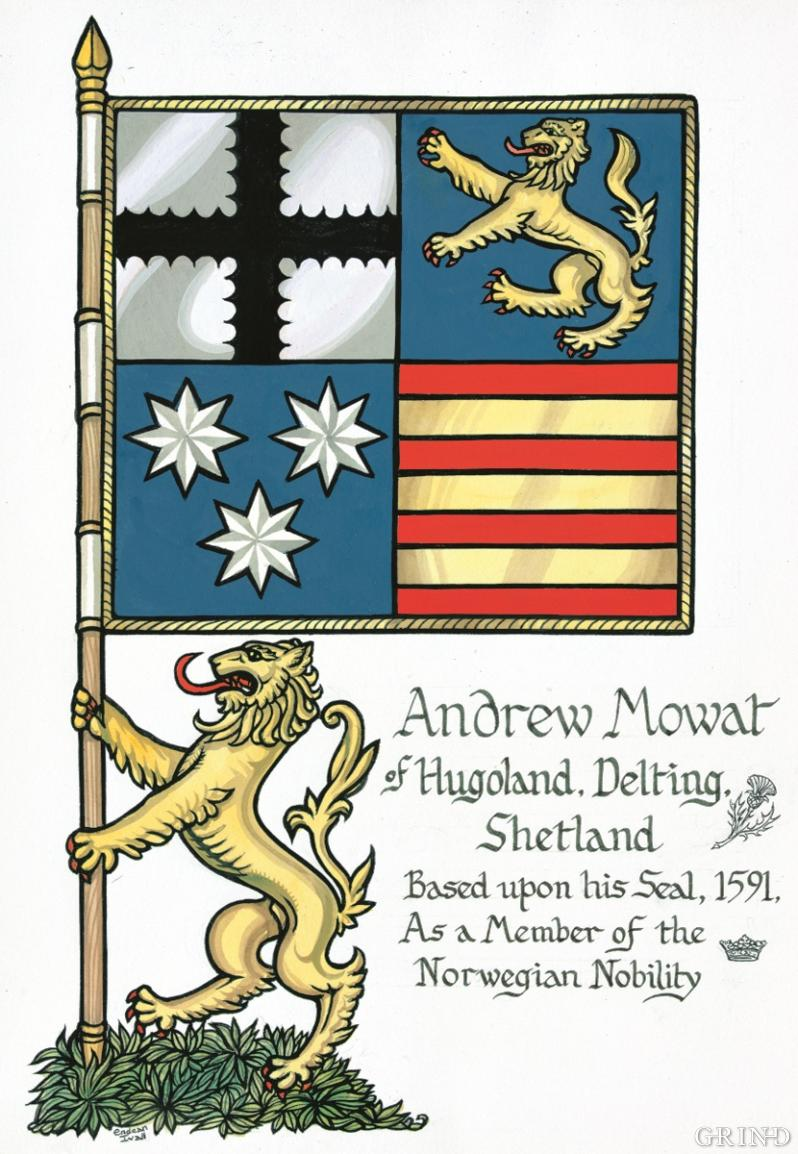 The coat-of-arms in bannerform