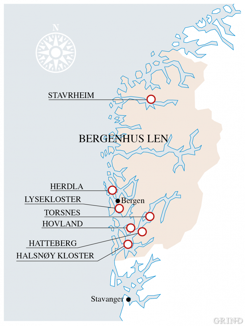 Bergenhus main region in the middle of the 17th century