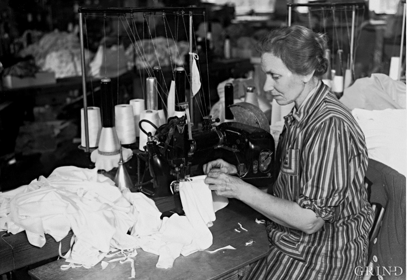 The Janus factory at Espeland was a big employer of women.