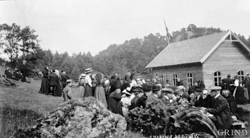 Friluftsstemne på Fjelberg bedehus på Borgundøy