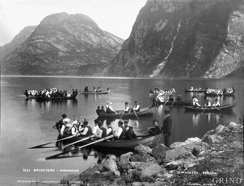 A wedding party in Hardanger.