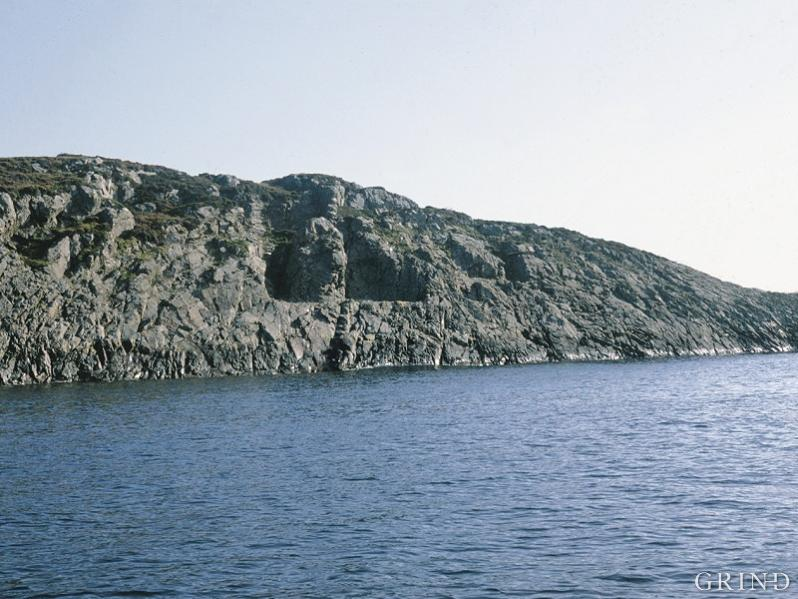 The quarry on the western wall at Hespriholmen