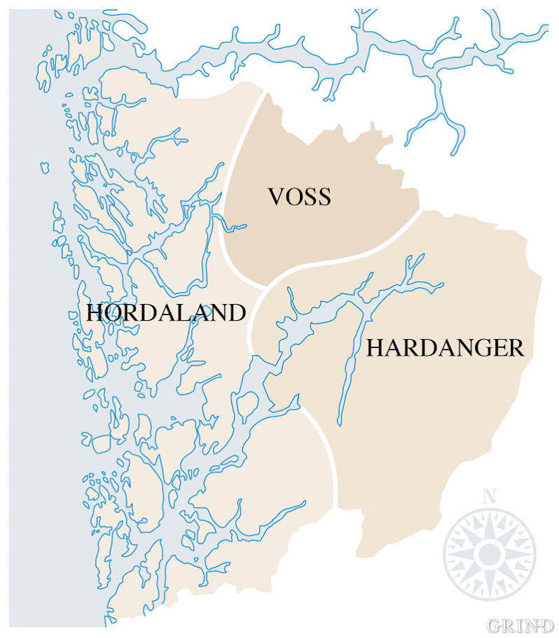Det gamThe old Horda County from the 10th century took in a bigger area than today's Hordaland.