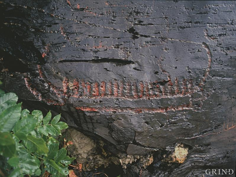 Figures of ships are a common motif for rock inscriptions