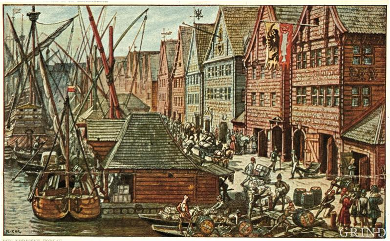 An attempt at a reconstruction of Bryggen in the 16th century