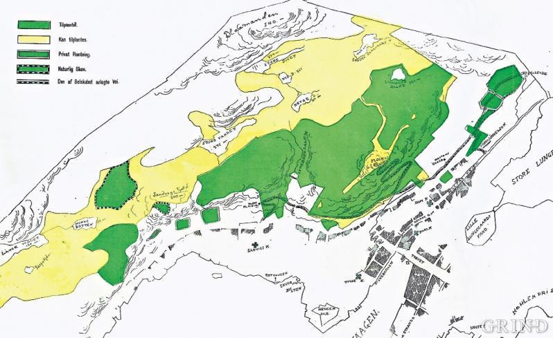 Skogkart over Bergen