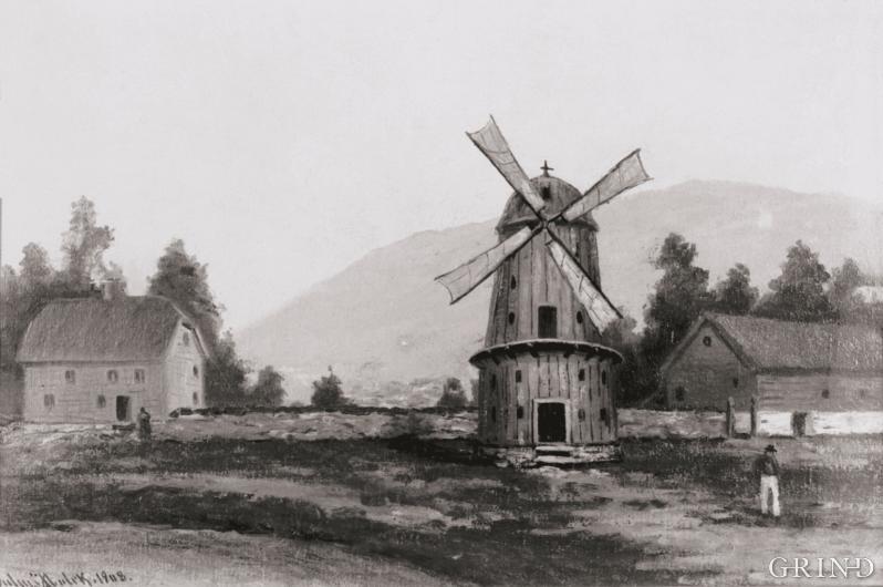 «Vindmøllen på Sydneshaugen.»
