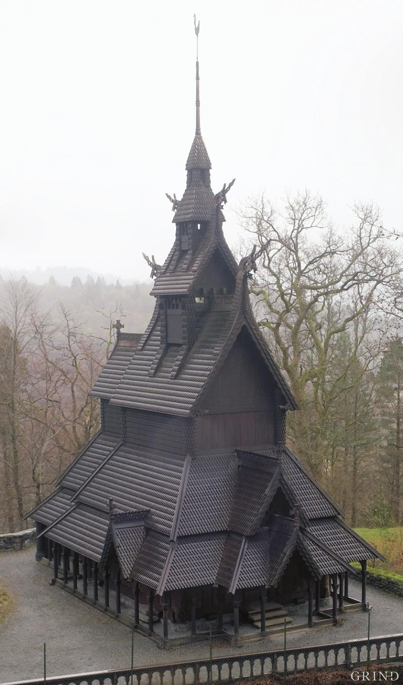The stave church at Fantoft